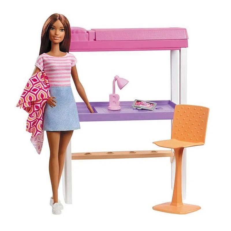 Barbie Real Móveis e Acessórios  - Quarto com Escritório DVX51