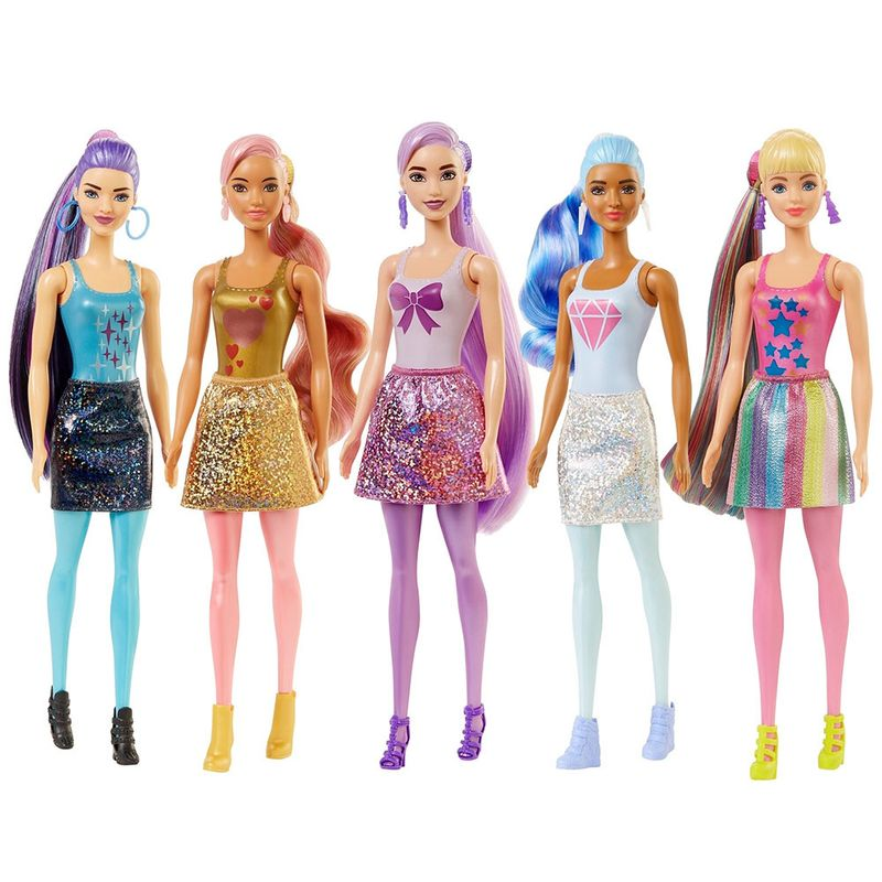 Boneca Barbie Fashionista - Color Reveal - Glitter