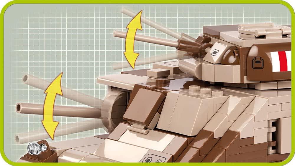 COBI 2391- Tanque Médio Americano M3 Grant com 555 pcs