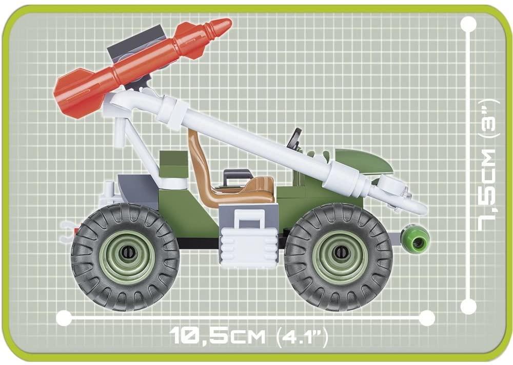 COBI - Carro Militar Suporte Foguete com 90 Peças