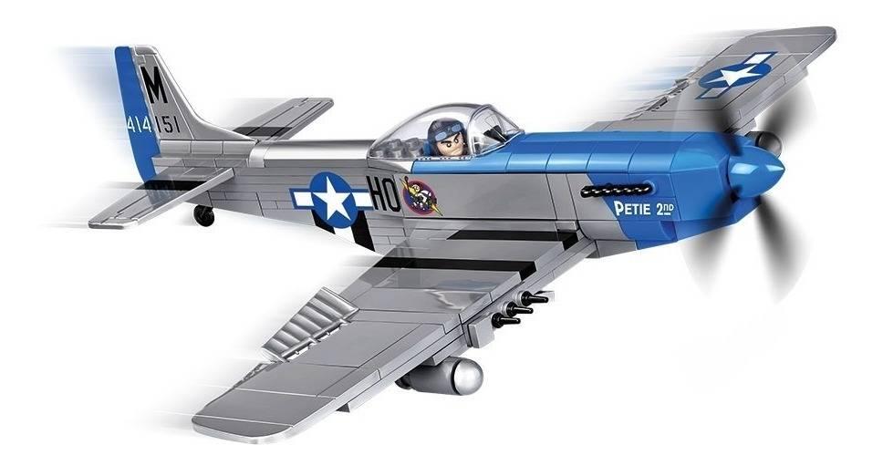 COBI Guerras - Avião Militar Americano P-51D Mustang