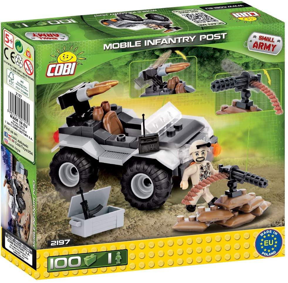 COBI - Jeep Militar Com Boneco E Acessorios  com 100 Pçs