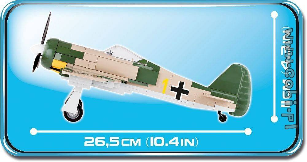 COBI Small Army 5514 - Avião Militar Focke Wulf FW-190A-4
