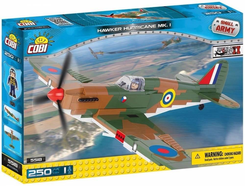 COBI Small Army 5518 - Avião Militar Hawker Hurricane
