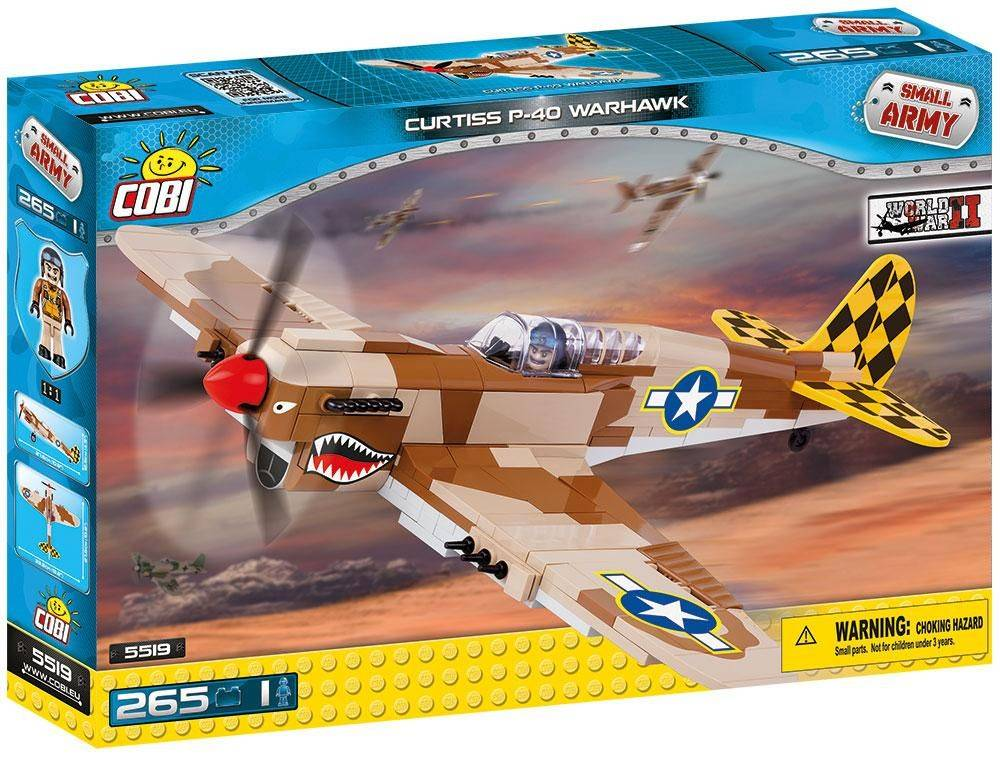 COBI Small Army - Avião Militar Curtiss P40K 5519