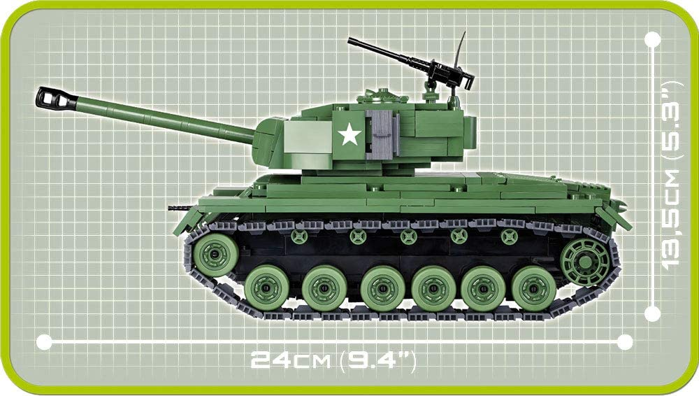 COBI - Tanque Americano M26 Pershing com 475 pçs