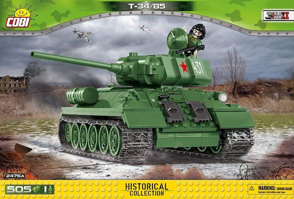 COBI - Tanque de Guerra Soviético T-34/85 com 505 pçs