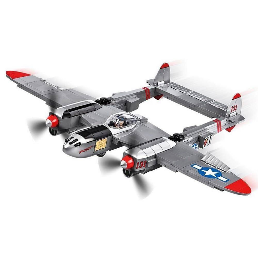 COBI World War II - Avião de Caça Americano Lockheed P-38 Lightning 5539