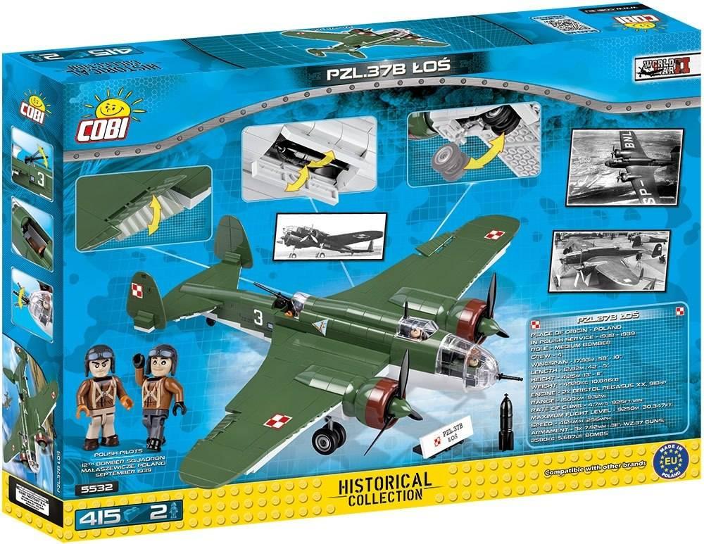 COBI World War II - Avião Militar Pzl-37B