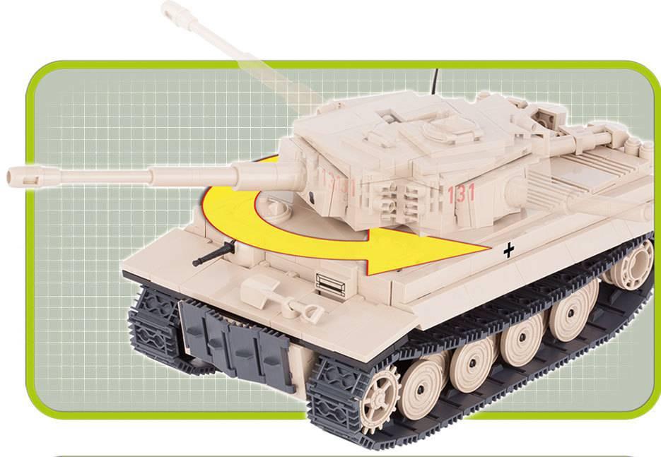 COBI World War II - Tanque Tiger 131 - Sd.Kfz. 181 Panzerkampfwagen VI Ausf. E