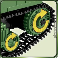 COBI WORLD WAR - Tanque Americano Sherman M4A1 com 480 Peças