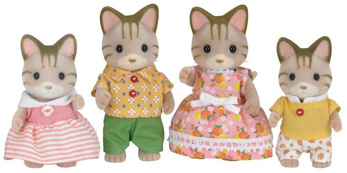 Família dos Gatos Listrados Sylvanian Families