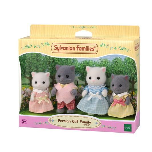 Família dos Gatos Persas Sylvanian Families