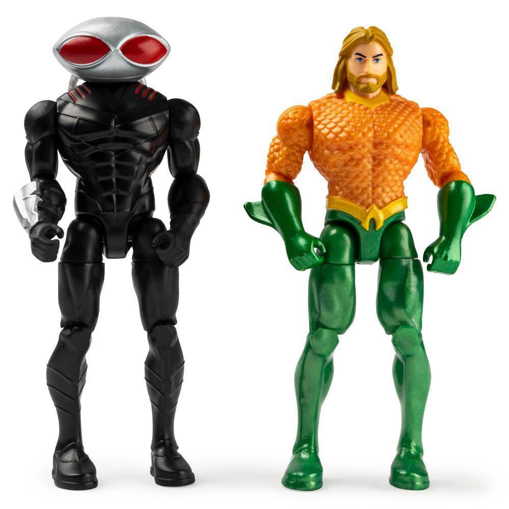 Figura Dc - Heroi E Vilão Aquaman E Black Manta