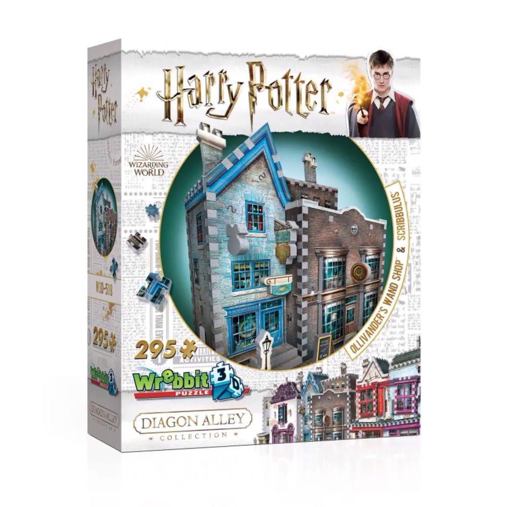 Harry Potter Quebra-Cabeça 3D - Loja de Varinhas Olivaras e Instrumentos de escrita Scribbulus