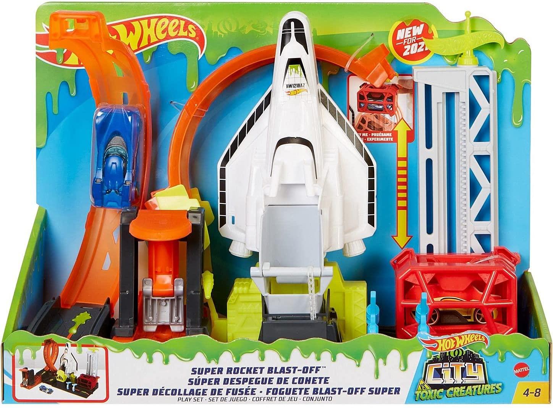 Hot Wheels City - Conjunto Foguete Blast-Off Super