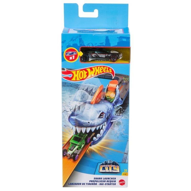 Hot Wheels City - Lançadores Nemesis - Tubarão