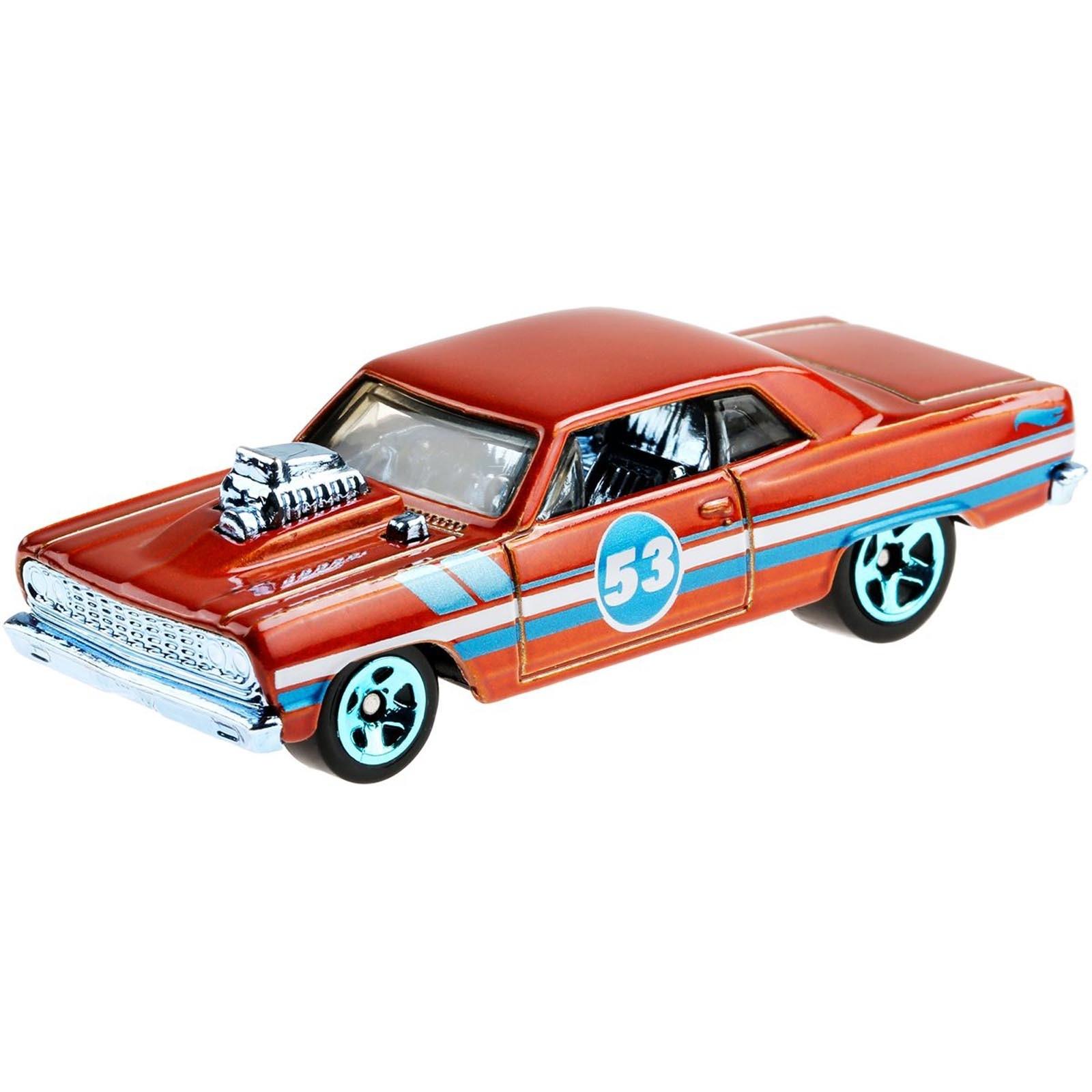 Hot Wheels - Coleção Miniatura - Aniversário 53 Anos - Laranja e Azul SORTIDO