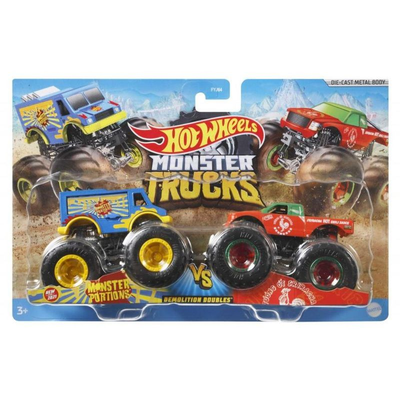 Hot Wheels - Monster Trucks Demolition Doubles - Portions Vs Sriracha