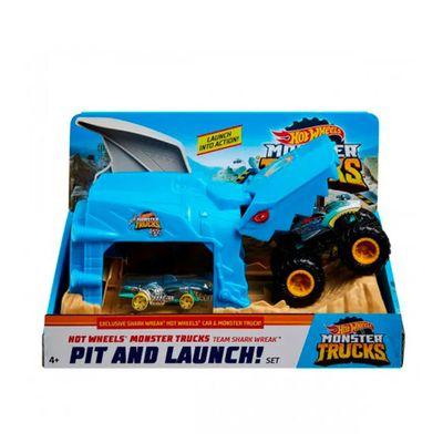 Hot Wheels - Monster Trucks Lançadores Radicais - Shark Wreak