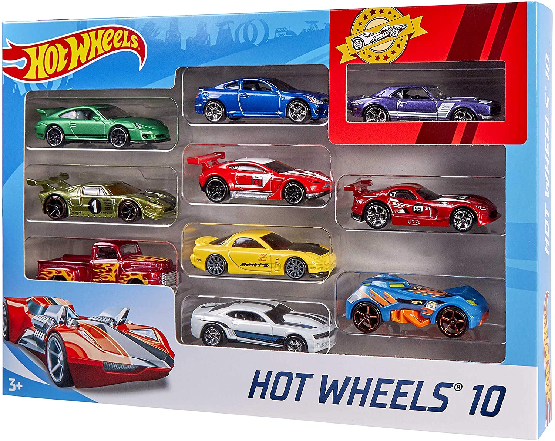 Hot Wheels - Pacote 10 Carros Sortidos (NÃO É POSSIVEL ESCOLHER AS CORES)