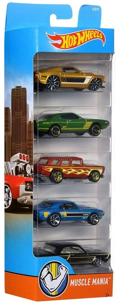 Hot Wheels - Pacote 5 carros SORTIDOS