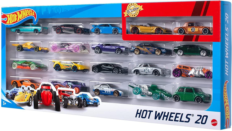 Hot Wheels - Pacote com 20 Carros Escala 1:64