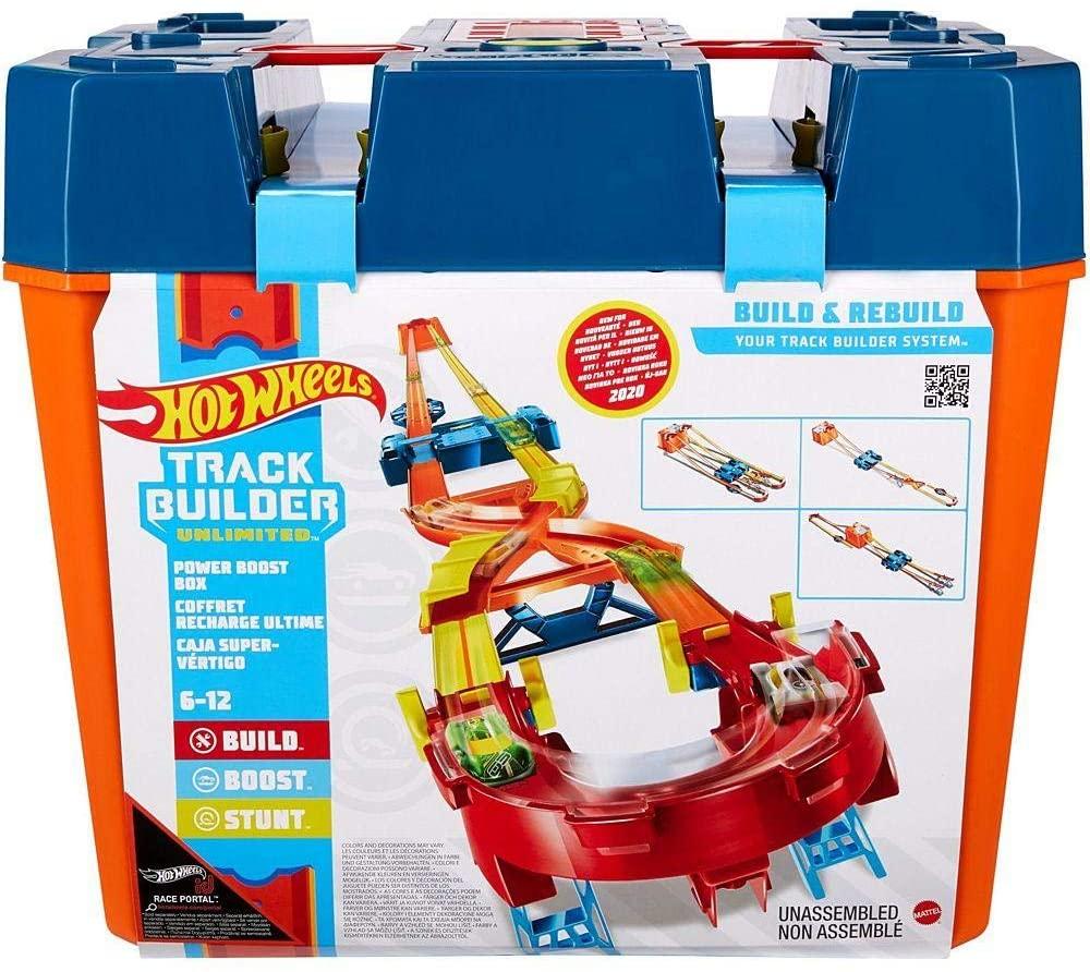 Hot Wheels - Pista Track Builder Mega Caixa