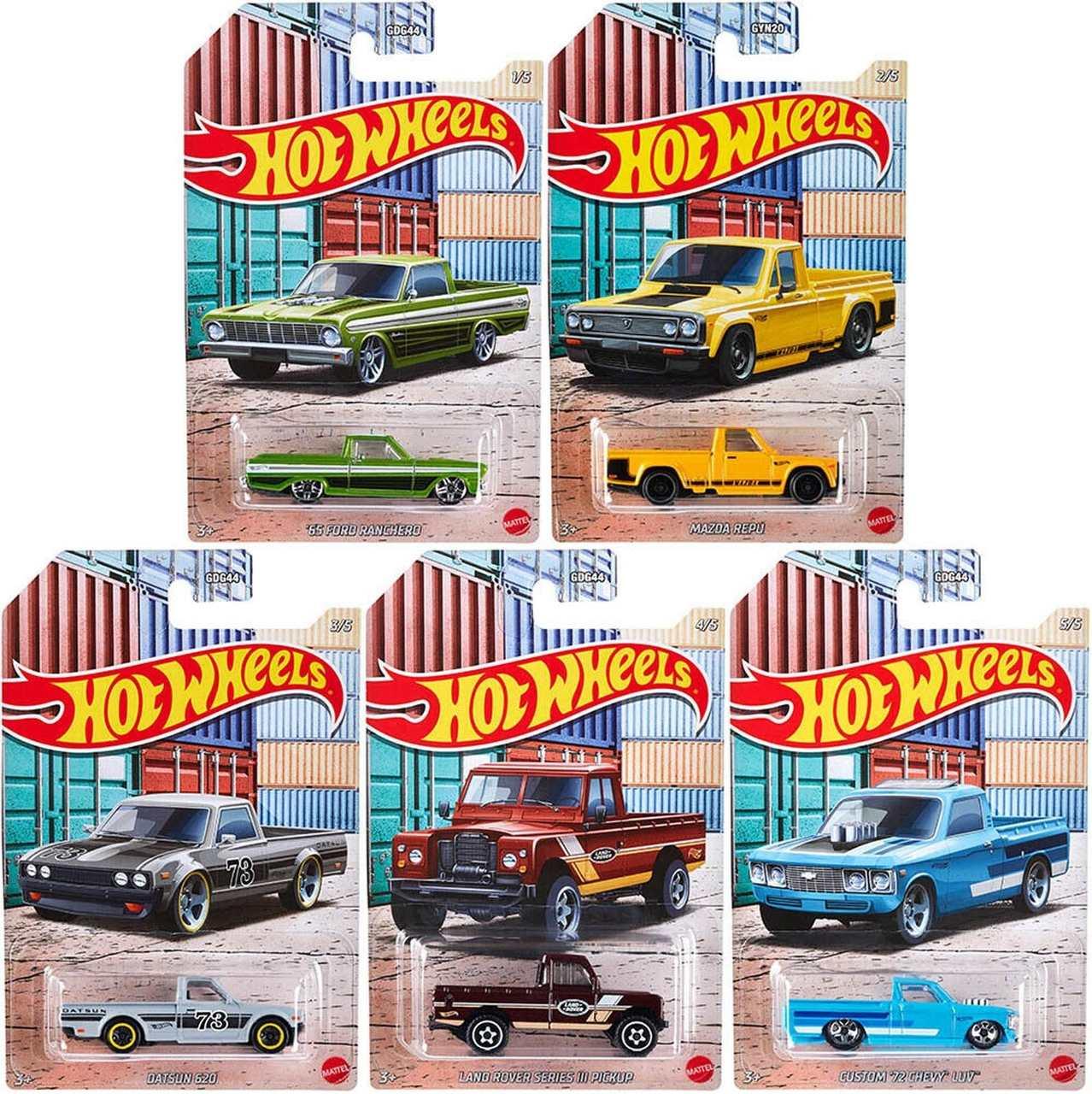 Hot Wheels - Set 4 Miniaturas - Hot Pickups (SORTIDO)