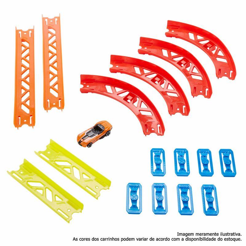 Hot Wheels - Track Builder - Conjunto de Curvas Premium