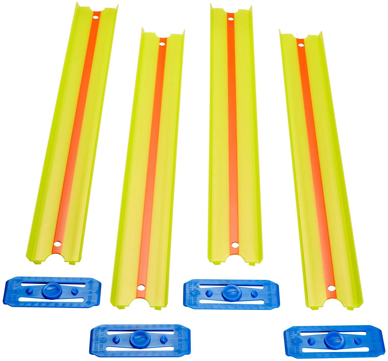 Hot Wheels Track Builder - Pacote com 4 Pistas Reta Amarelo