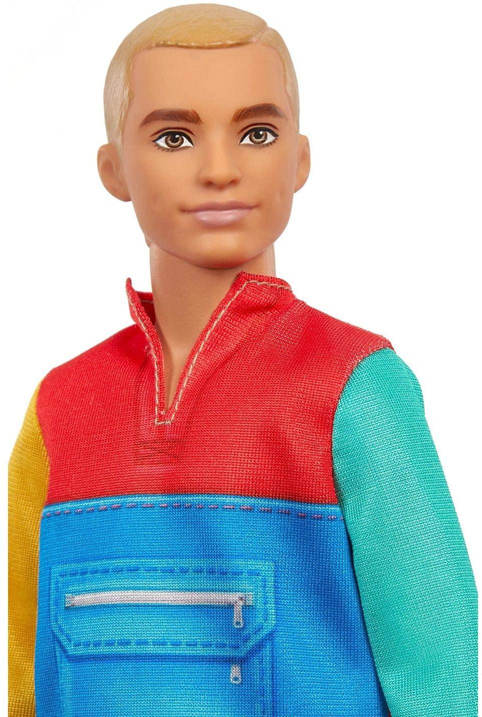 Ken Fashionistas - 163 Cabelo Loiro Casaco Colorido