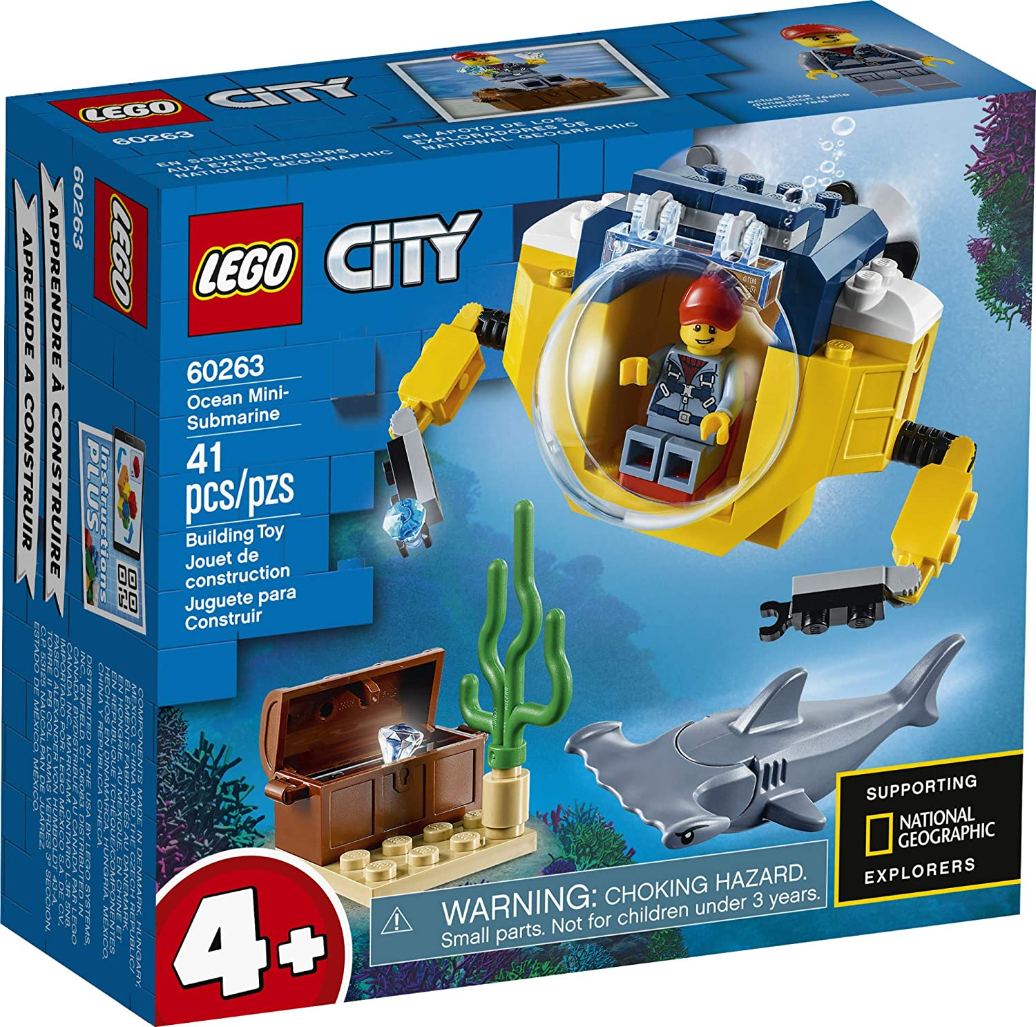 LEGO CITY - Mini-submarino Oceânico 60263