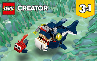 LEGO Creator 3 em 1 - Criaturas do Fundo do Mar 31088