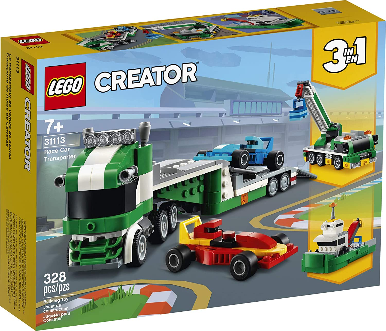 LEGO Creator 3 em 1 - Transportador de Carros de Corrida 31113