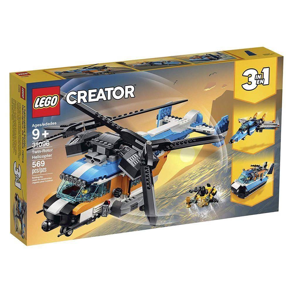 LEGO Creator - Modelo 3 Em 1: Helicóptero de Duas Hélices 31096