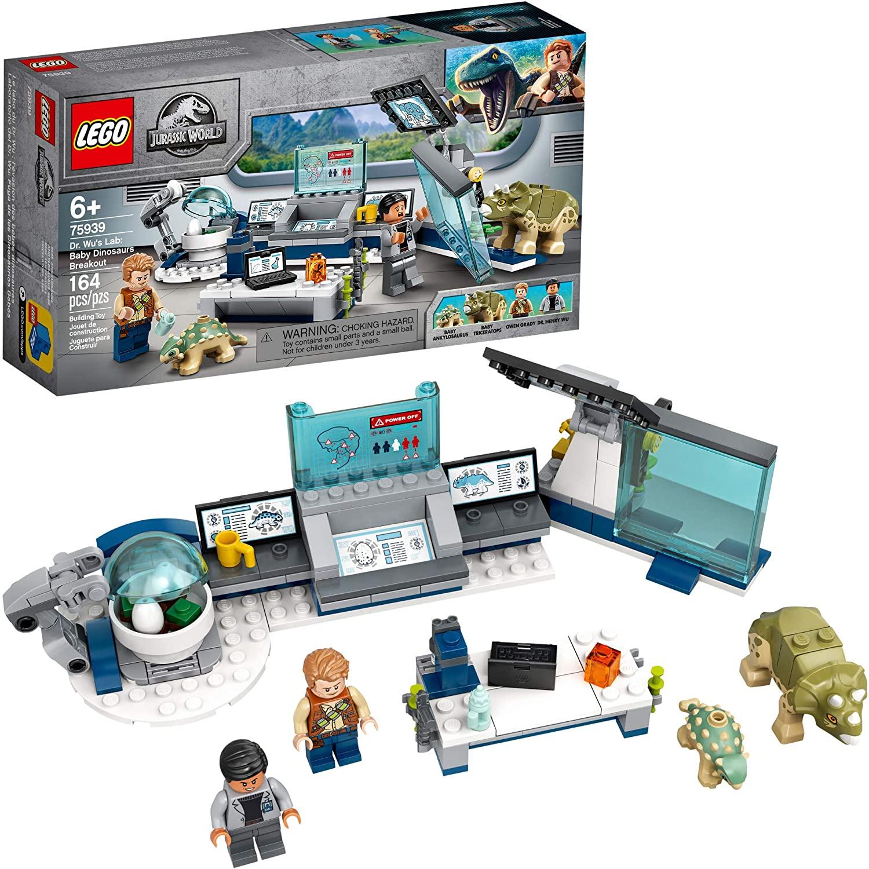 LEGO JURASSIC WORLD - Laboratório do Dr. Wu: A Fuga dos Dinossauros Bebê 75939