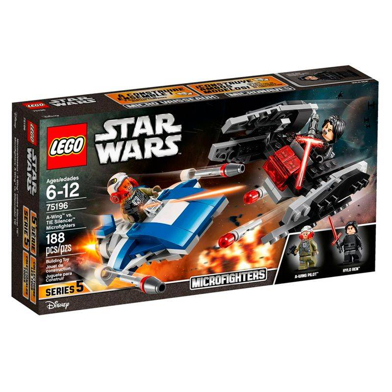 LEGO Star Wars - Microfighters A-wing vs. Silenciador TIE 75196