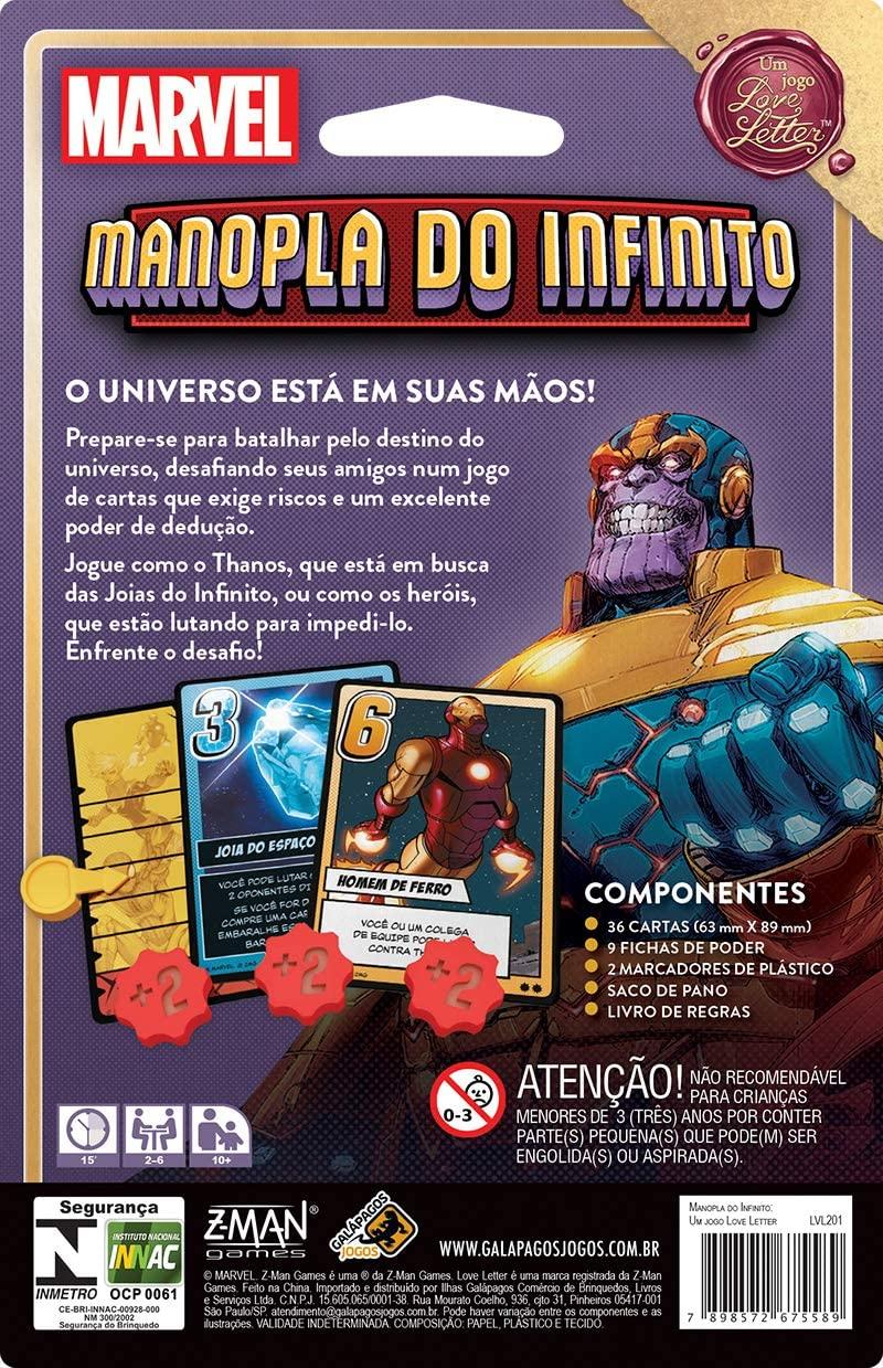 Manopla do Infinito: Um jogo Love Letter