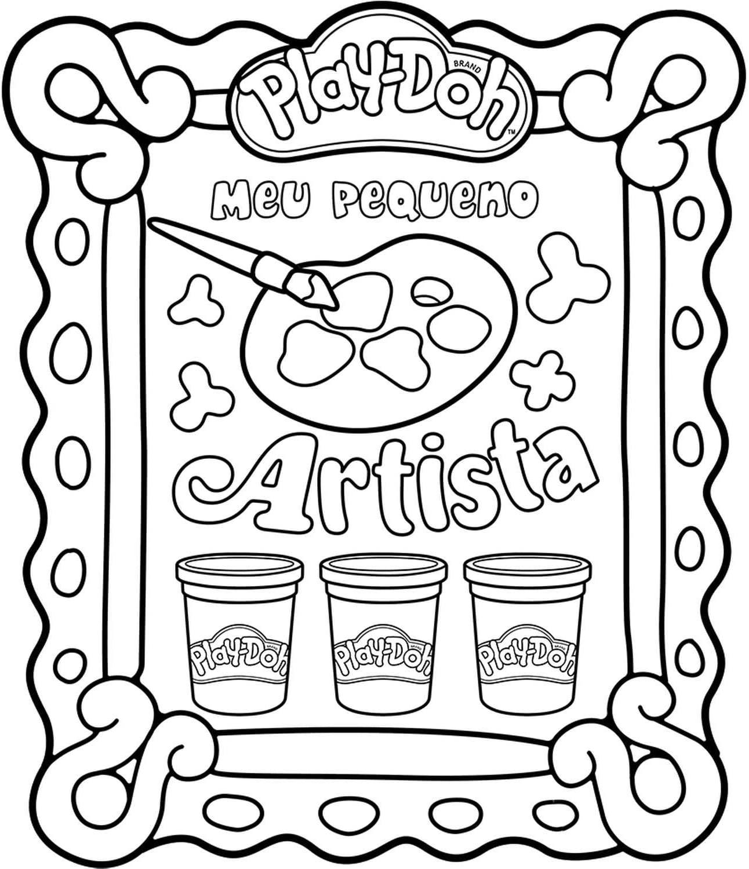 Meu Pequeno Artista Kit de Pintura Play Doh