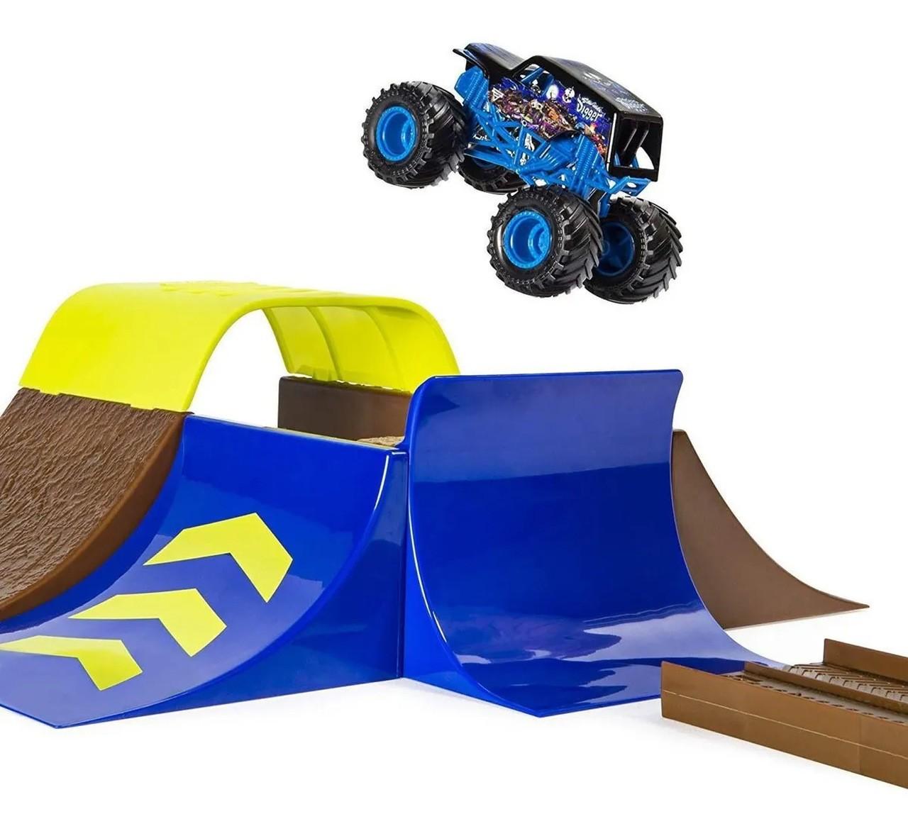 Monster Jam- Playset Pista E Carro Champ Ramp Freestyle