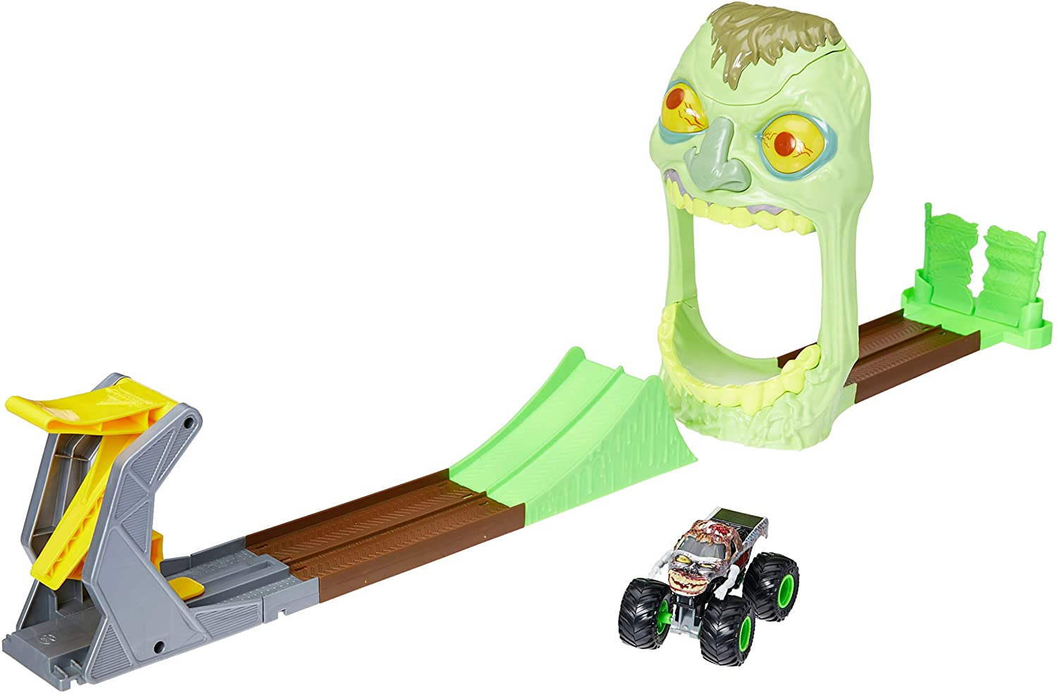 Monster Jam- Playset  Zombie com Pista e Carro 1:64
