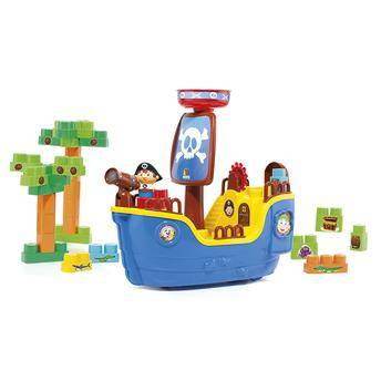 Navio Pirata Baby Land com 30 Blocos