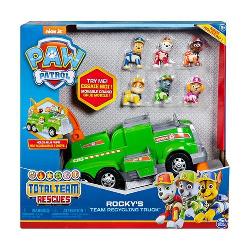 Patrulha Canina Total Team Rock´s Caminhão Reciclagem Com Figura