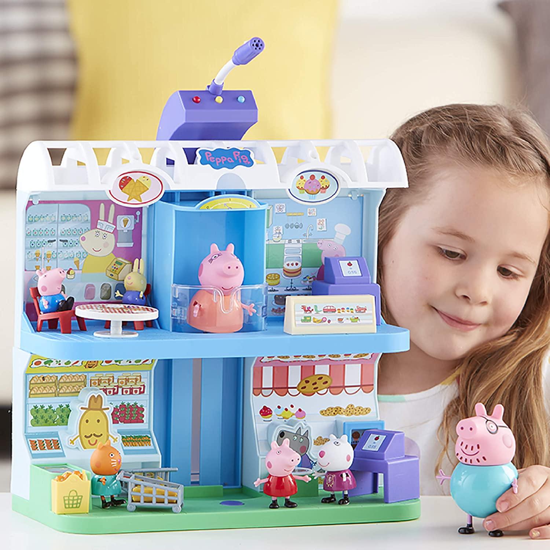 Peppa Pig Playset - Centro Comercial com Figuras