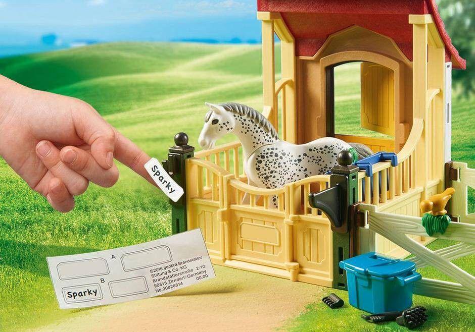 Playmobil Cavalo Apaloosa com Estábulo