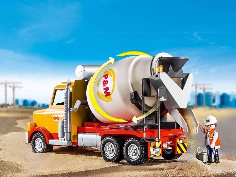 Playmobil City Action - Caminhão de obras - Betoneira 9116