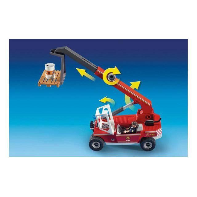 Playmobil City Action - Guindaste De Incêndio Corpo De Bombeiros 9465