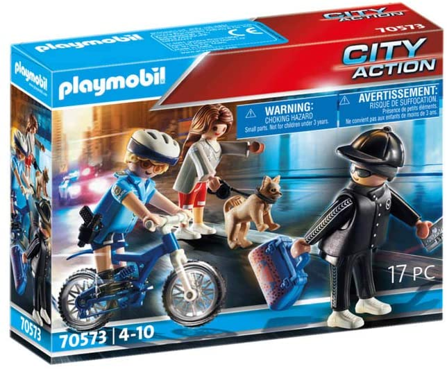 Playmobil City Action - Policial Com Bicicleta E Fugitivo 70573