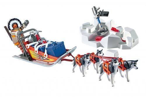 Playmobil Expedição Ártica - Trenó puxado por Husky 9057